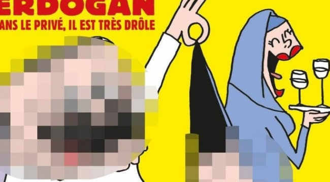 Charlie Hebdo dergisinden Erdoğan karikatürü