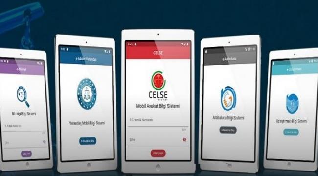 Adalet Bakanlığının geliştirmiş olduğu mobil uygulamalar