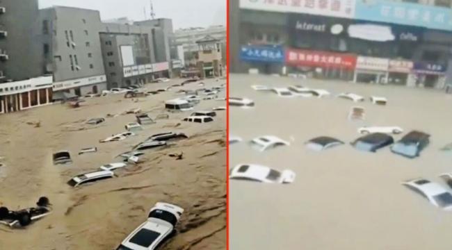 Çin'de sel felaketi yaşanıyor