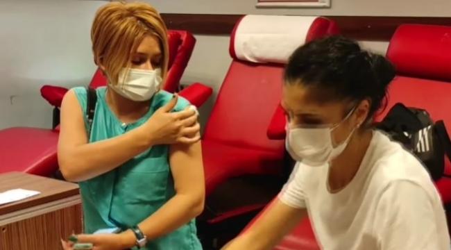 Adliye'de randevusuz aşı uygulaması